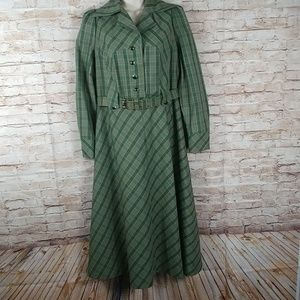 Petra green shirt dress flair skirt Korea